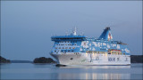 Cruise ship in Stockholm archipelago