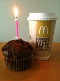 Latte and a muffin