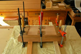 34 front vice face jaw glue-up