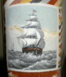 Sailing Ship Detail on Back of Sandbottle