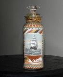 Back of Sandbottle Depicting Sailing Ships