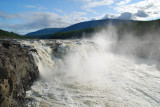 the most powerful waterfall in Russia - the Kureika river (13 meters high)