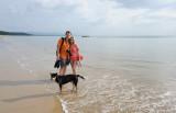 Max & Alina & sea dog