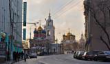 Moscow. Varvarka street. Zaryadie historical district
