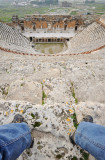 Pamukkale. Hierapolis. Roman Theatre. The only spectator