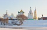 Moscow region. Town of Kolomna. View on Kolomna Kremlin across Moskva-river