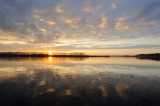 Sunset at Volga river near town of Uglich