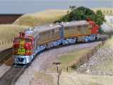 The ATSF PA's out on the mainline.