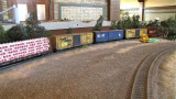 Weathered freight cars at Jere Ingram's Hearst.