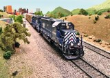MRL SD40-2XRs leading the local up the line.