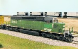 BNSF 8000, renumbered/detailed Kato SD40-2