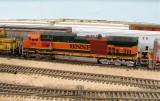 BNSF 1090 with a primer band-aid.