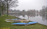 starting for a winter paddling tour