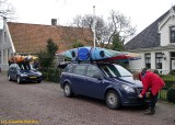 the kayaks on our cars