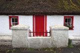 Red door and red windows