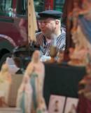 Salesman in folkloric costume