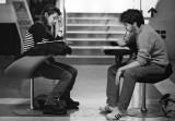 Students in the Palazzo dell'Archiginnasio (Public Library)