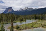 Bow River with a view of Castle Mountain