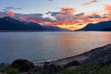 Sunset across Turnagain Arm, from the Seward Highway