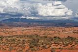 La Sal Mountains, behind Petrified Dunes