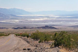 View of Salt Creek in Death Valley, from Hells Gate on Hiway 374
