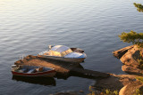 Boats docked on the French River.JPG