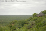 Bandas of Olifants Camp overviewing the immense Kruger
