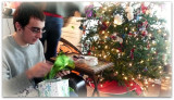 victor opens gifts