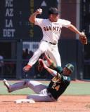 San Francisco Giants SS Omar Vizquel and Oakland Athletics catcher Kurt Suzuki