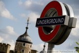 Tower of London and Underground sign