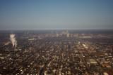 Aerial of Omaha skyline