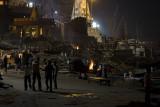 Cremations at night, Varanasi
