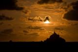 Le Mont Saint-Michel sunset
