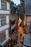 The Narrow Streets in Le Mont Saint-Michel