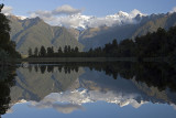 Aoraki / Mount Cook and Mount Tasman Reflections, Lake Matheson