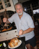 Mike slaughters the Christmas turkey