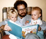 Dad reads to the brothers