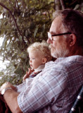 Danny with Grandpa at the lake 1982