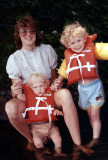 Heather and boys at the lake 1984