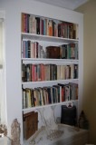 living room bookcase, right