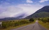 Misíon de Tilaco amid the fog.