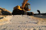 Steam Shovel and Photographer, Salt Works