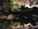 Double Exposure - Rainbow at Yosemite Falls