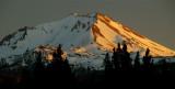 Dying Light over Lassen Peak