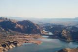 Colorado River emptying into Lake Mead