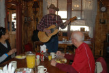 Casey sings to us while we eat breakfast