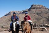Mike and Judy horseback riding