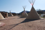 Cabins and teepees at the ranch