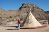 Mike in front of the teepee