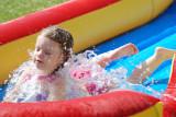 Madeline makes her own splash
